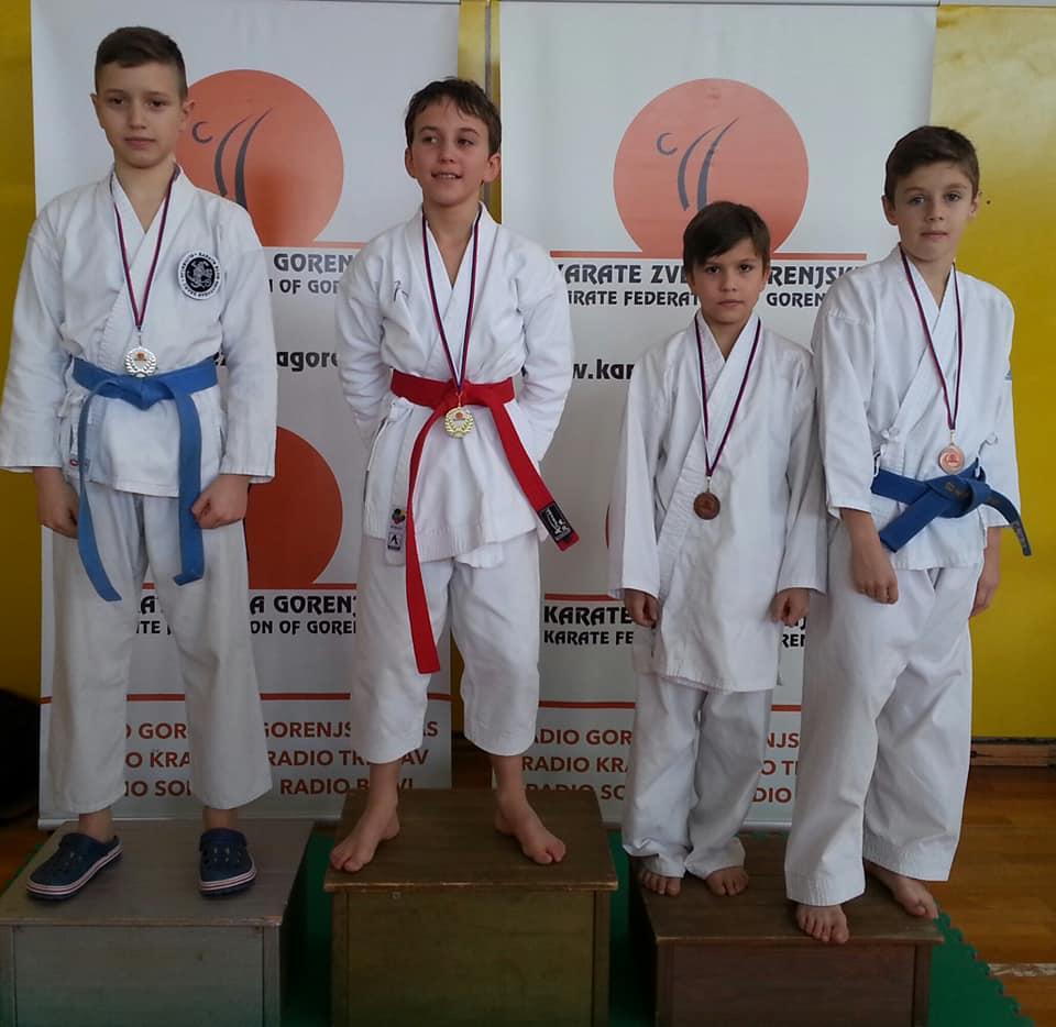 Osnovnošolska karate liga 2.krog Naklo 20.1.2019